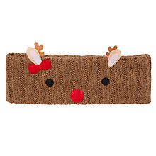 Buy John Lewis Girl Reindeer Knit Headband Online at johnlewis.com