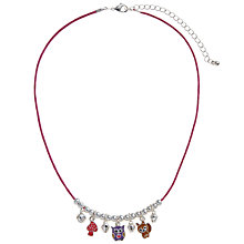 Buy John Lewis Girl Woodland Charm Necklace, Silver/Multi Online at johnlewis.com