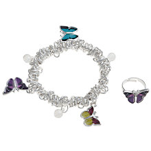 Buy John Lewis Girl Butterfly Bracelet & Ring Set Online at johnlewis.com