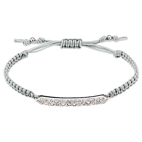 Buy Cachet London Rhodium Plated Friendship Bracelet Online at johnlewis.com
