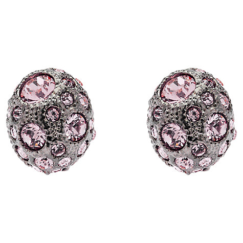 Buy Cachet London Ona Rose Swarovski Crystal Earrings, Pink Online at johnlewis.com