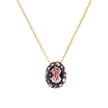 Buy Cachet London Oval Swarovski Crystal Surround Pendant, Pink Online at johnlewis.com