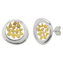 Buy Nina B Gold Plated Petals Stud Earrings, Silver / Gold Online at johnlewis.com