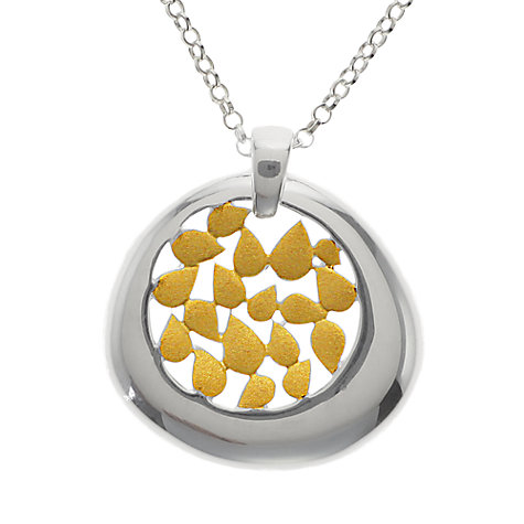Buy Nina B Gold Plated Petals Pendant, Silver / Gold Online at johnlewis.com