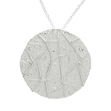 Buy Nina B Sterling Silver Large Round Disc Pendant Online at johnlewis.com