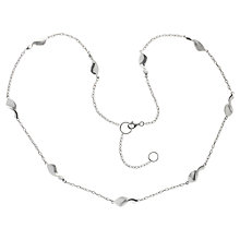 Buy Nina B Sterling Silver Swirls on Chain Necklace Online at johnlewis.com