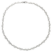 Buy Nina B Sterling Silver Open Square Link Necklace Online at johnlewis.com