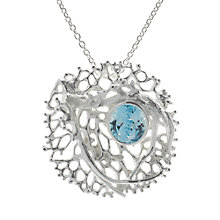 Buy Nina B Sterling Silver Blue Topaz Pendant / Brooch, Blue Online at johnlewis.com