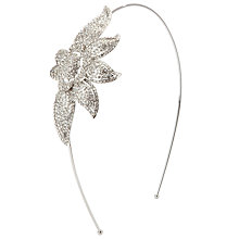 Buy John Lewis Deco Flower Side Tiara, Silver Online at johnlewis.com