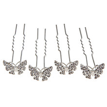 Buy John Lewis Diamante Butterfly Hair Pins, Pack of Four Online at johnlewis.com