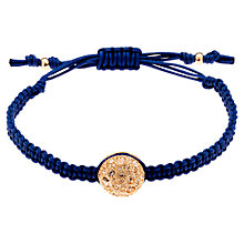 Buy Cachet London Crystal Disk Cord Friendship Bracelet, Blue Online at johnlewis.com