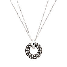 Buy Cachet London Jadine Rose Pendant Necklace, Silver Online at johnlewis.com