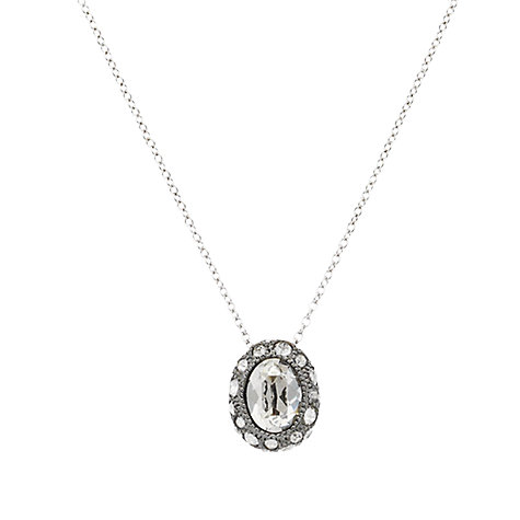 Buy Cachet London Ona Swarovski Crystal Oval Pendant, Silver Online at johnlewis.com