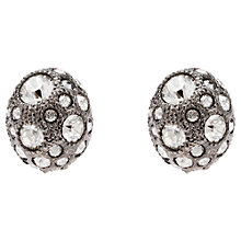 Buy Cachet London Ona Swarovski Crystal Oval Earrings, Silver Online at johnlewis.com