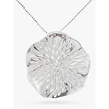Buy Nina B Sterling Silver Wavy Disc Pendant, Silver Online at johnlewis.com