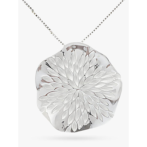 Buy Nina B Sterling Silver Wavy Disc Pendant Online at johnlewis.com