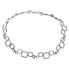 Buy Nina B Sterling Silver Open Square Link Bracelet Online at johnlewis.com