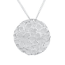 Buy Nina B Sterling Silver Bubble Disc Pendant Online at johnlewis.com