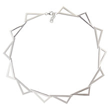 Buy Nina B Sterling Silver Open Triangular Link Necklace Online at johnlewis.com