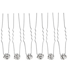 Buy John Lewis Crystal Hair Pins, Pack of Six Online at johnlewis.com