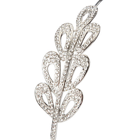 Buy John Lewis Deco Side Tiara, Silver Online at johnlewis.com