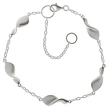 Buy Nina B Sterling Silver Swirls on Chain Bracelet Online at johnlewis.com
