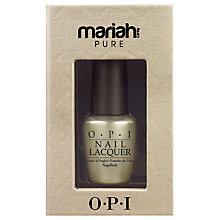 Buy OPI Nails Mariah Carey Pure 18K White Gold and Silver Top Coat, 15ml Online at johnlewis.com
