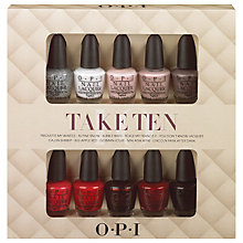 Buy OPI Nails Take Ten 10 Piece Gift Set Online at johnlewis.com
