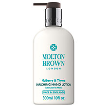 Buy Molton Brown Mulberry & Thyme Enriching Hand Lotion, 300ml Online at johnlewis.com