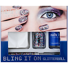 Buy Nails Inc. Bling It On Glitterball Gift Set Online at johnlewis.com