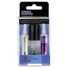 Buy Andrea Fulerton Nail Boutique Glitter Puff Dust and Overcoat, Pink / Silver Online at johnlewis.com