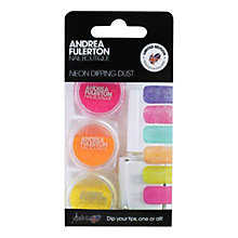 Buy Andrea Fulerton Nail Boutique Neon Glitter Dipping Dust, 3 x 2.5g Online at johnlewis.com
