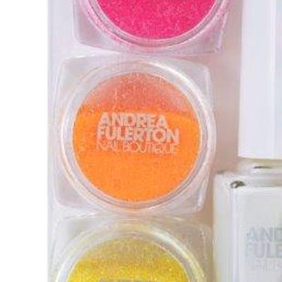 Andrea Fullerton Neon Glitter Dipping Dust, 3 x 2.5g, Pink / Orange / Yellow
