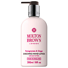 Buy Molton Brown Pomegranate & Ginger Enriching Hand Lotion, 300ml Online at johnlewis.com