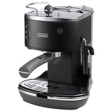 Buy De'Longhi ECOV310.BK1 Vintage Icona Espresso Coffee Machine, Black Online at johnlewis.com