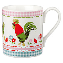 Buy Cath Kidston Chicken Stripe Larch Mug Online at johnlewis.com