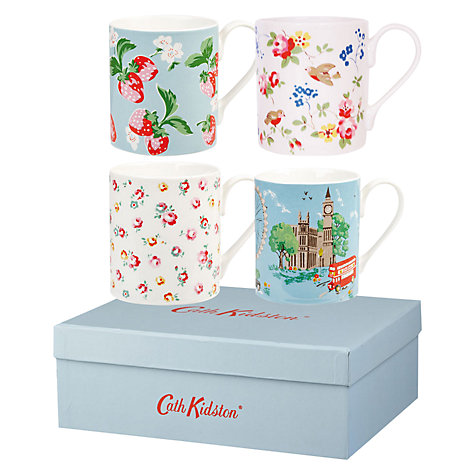 Buy Cath Kidston London Larch Mugs, Set of 4 Online at johnlewis.com
