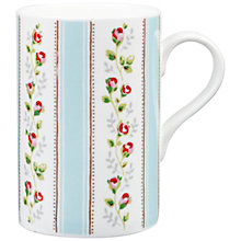 Buy Cath Kidston Tea Rose Stripe Cedar Mug Online at johnlewis.com