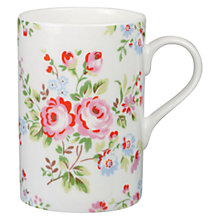 Buy Cath Kidston Chelsea Rose Cedar Mug Online at johnlewis.com