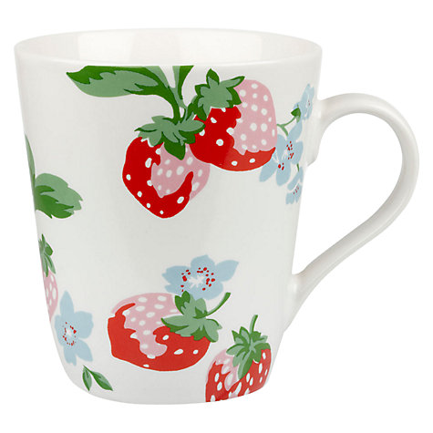 Buy Cath Kidston Strawberry White Stanley Mug Online at johnlewis.com