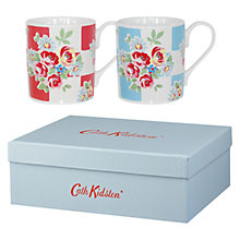 Buy Cath Kidston Rose Check Larch Mugs, Set of 2 Online at johnlewis.com