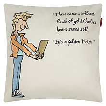 Buy Roald Dahl Charlie and the Chocolate Factory Square Cushion Online at johnlewis.com