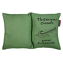 Buy Roald Dahl The Enormous Crocodile Book Cushion Online at johnlewis.com