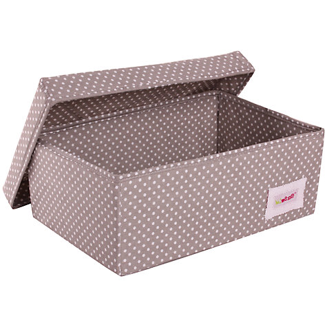 Buy Minene Small Spot Storage Box, Grey Online at johnlewis.com