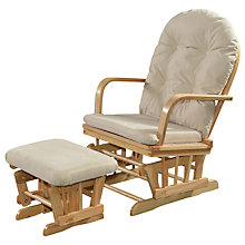 Buy Kub Charnwood Glider Nursing Chair and Footstool, Natural Online at johnlewis.com