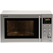 Buy Sharp R28STM Microwave Oven, Stainless Steel Online at johnlewis.com