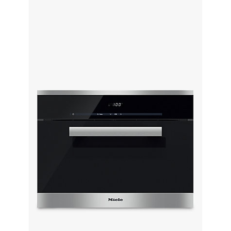 buy miele dg6200 pureline single electric steam oven clean steel john lewis. Black Bedroom Furniture Sets. Home Design Ideas