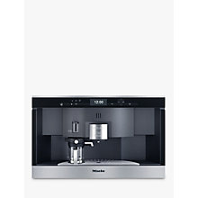 Buy Miele CVA6431 PureLine Built In Coffee Machine, Clean Steel Online at johnlewis.com