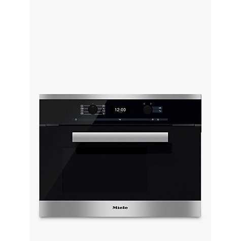 buy miele dgc6400 pureline combination steam oven clean steel john lewis. Black Bedroom Furniture Sets. Home Design Ideas