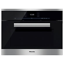 Buy Miele DGC6600XL PureLine Combination Steam Oven, Clean Steel Online at johnlewis.com